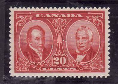 Canada-Sc#148- id5-Unused NH og 20c Baldwin & Lafontaine-1927-