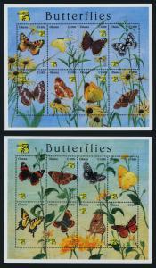 Ghana 2098-9 MNH Butterflies, Flowers