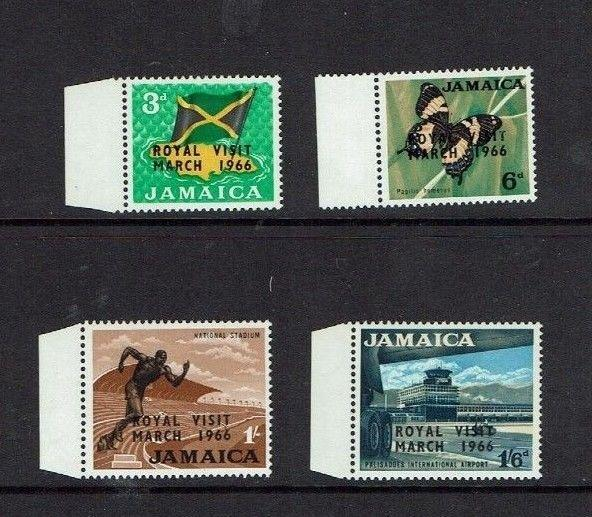 Jamaica: 1966, definitive, Royal Visit, Overprinted set, Mint lightly hinged