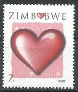 ZIMBABWE, 2008, MNH Z, Valentine's Day Scott