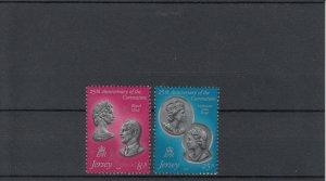 Jersey MNH 195-6 25th Anniversary Of Coronation QE II 1979