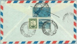 86176 - PAKISTAN - POSTAL HISTORY - REGISTERED Airmail COVER to ITALY 1950's