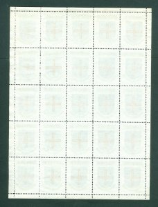 Denmark. Poster Stamp Full Sheet 1940/42. District: Tonder. Coats Of Arms.Cross.