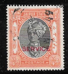 India Jaipur O23: 3/4a Maharaja Man Singh II, unused, NG, VF