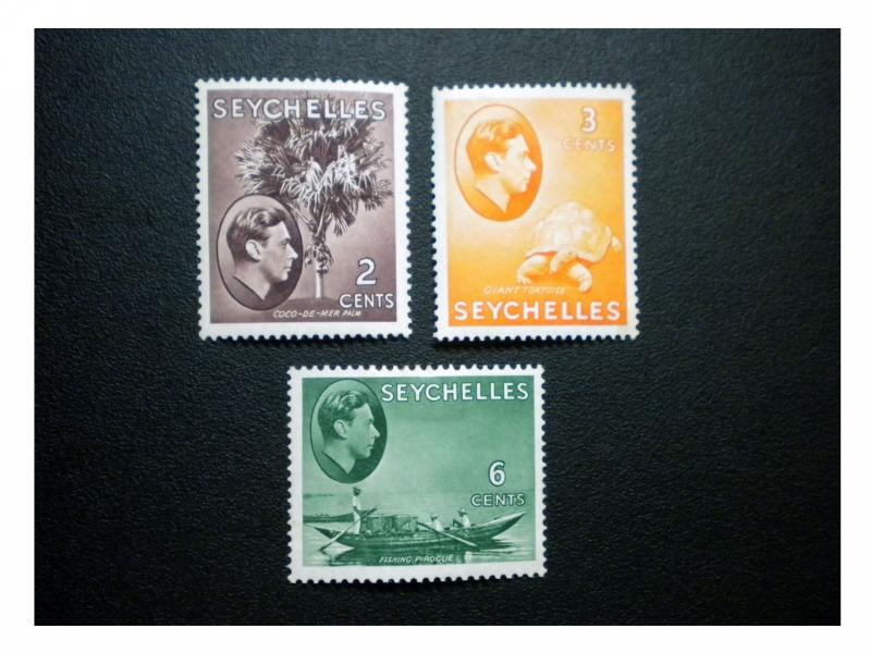 BRITISH SEYCHELLES YEAR 1938 - 41. SCOTT # 125 - 129B. UNUSED