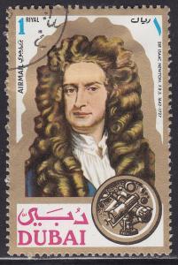 Dubai C57 CTO 1971 Sir Isaac Newton