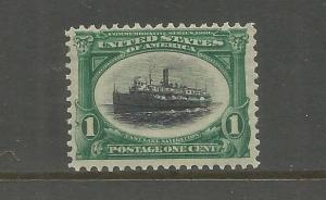 UNITED STATES, 294, MINT HINGED,FAST LAKE NAVIGATION