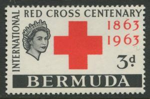 Bermuda -Scott 193 - Red Cross - 1963 -MNH -Single 2p Stamp