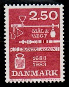 Denmark Sc 740 1983 Weights & Measures stamp mint NH
