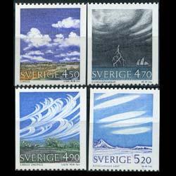 SWEDEN 1990 - Scott# 1845-8 Clouds Set of 4 NH