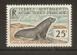 FSAT 1960 25fr Fur Seal SG14 MNH Cat£150