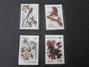 Ghana 1985 Sc 80-3 Bird set MNH