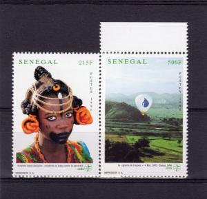 Senegal 1996 Sc#1258/1259 Third World/Hot Air Balloon in Flight.Set (2) perf.MNH
