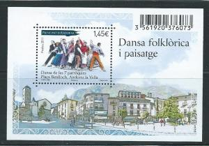 Andorra French 691 2011 Dance s.s. MNH