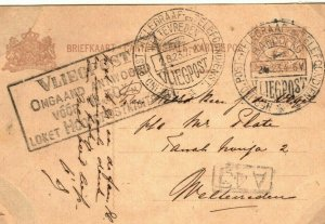 DUTCH EAST INDIES Card Early AIR MAIL Bandong Weltevreden 1923 Vliegpost EP122