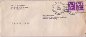 United States Military 3c Win The War (2) 1943 Miami, Fla. Hdqrs. 7th Nav. Di...