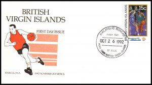 British Virgin Islands 757 Summer Olympics U/A FDC