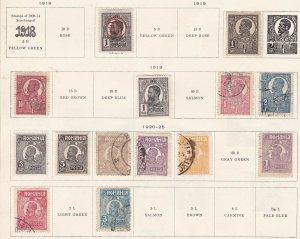 ROMANIA ^^^^^1919-25  mint & used CLASSICS  on page @ta667roma