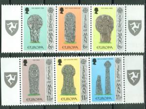 Great Britain-Isle Man # 133a,136a Europa - strips (2) MNH