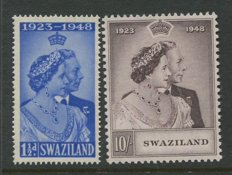 Swaziland - Scott 48-49 - Silver Wedding Issue -1948-MNH-Set of 2 Stamps