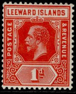 LEEWARD ISLANDS GV SG48a, 1d bright scarlet, LH MINT. Cat £15.
