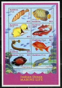 Maldives MNH S/S Indian Ocean Marine Life Fish