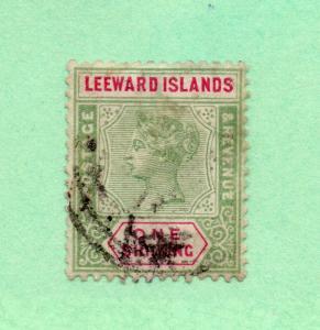 Leeward Islands - SG# 7 Used (tiny thin) /  Lot 1118310