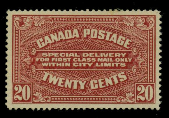 Canada #E2 MINT F-VF No gum Cat$160