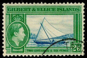 GILBERT AND ELLICE ISLANDS SG53, 2s 6d dp blue & emerald, USED. Cat £11.