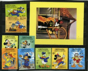 GRENADA GRENADINES 1979 Sc#350-359 DISNEY CHARACTERS SET OF 9 STAMPS & S/S MNH