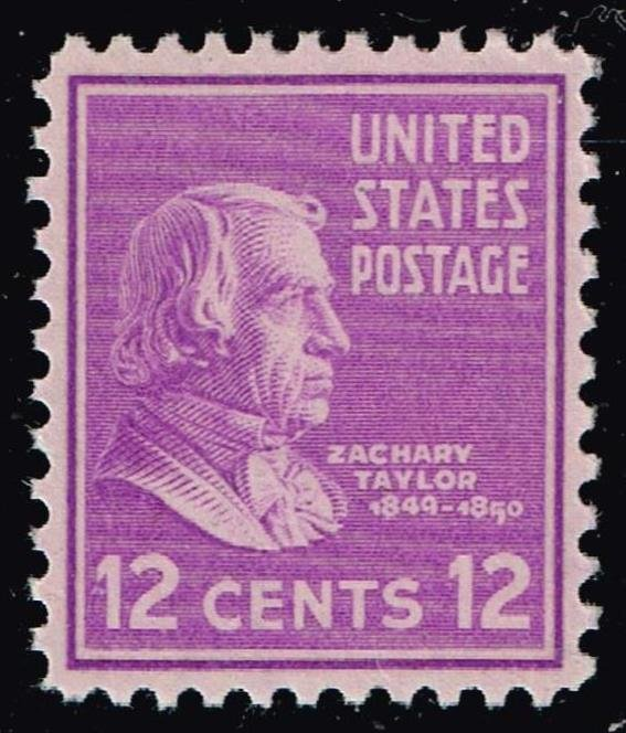 US STAMP #817 – 1938 12c Taylor, purple MNH/OG XFS SUPERB