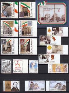 2011 Vatican City - Sc# 1462-1491 - Complete year set - MNH