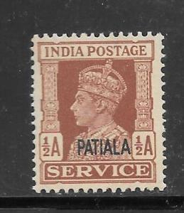 India Convention States Patiala #O64 MNH Single