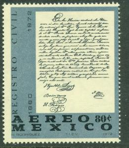 MEXICO C403 Benito Juarez Death Centennial. MINT, NH. VF.