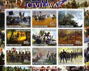 Kyrgyzstan 2001 The Civil War Sheet Perforated mnh.vf