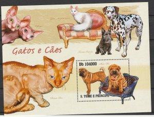 St. Thomas & Prince Isl. MNH S/S Cats & Dogs