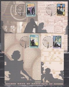 Australia, Scott cat. 1218-1221. Golden Days of Radio issue as 4 Maximum Cards.^