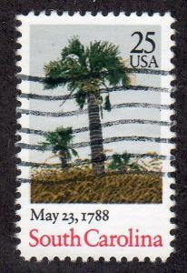 United States 2343 - Used - 25c South Carolina (1988)