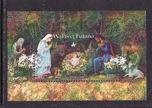 Wallis & Futuna-Sc#630-unused NH sheet-Christmas-2006-