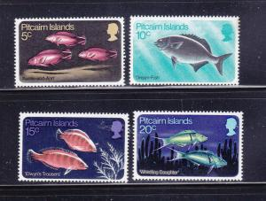 Pitcairn Islands 114-117 Set MNH Fish (B)