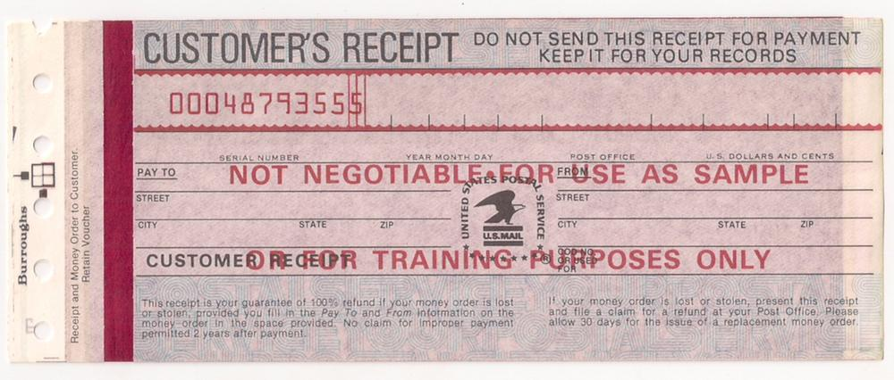 Usps Money Order Ca 80s 90s Sample For Training Purposes Hipstamp