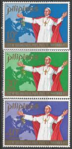 PHILIPPINES 1080-81 C99 MNH POPE 2D-2