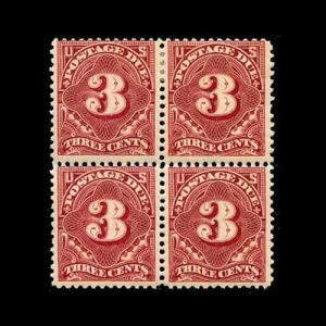 momen: US Stamps #J40 Block of 4 Mint OG