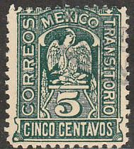 MEXICO 369, 5c Transitorio. Revolutionary Issue. Used. F-VF. (978)