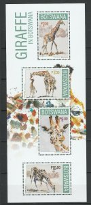 Botswana 2020 Fauna, Animals, Giraffes MNH Sheet