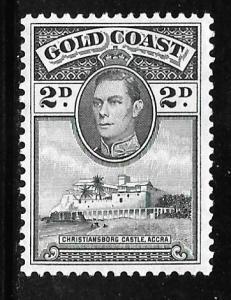 Gold Coast 118a: 2p King George VI, MH, VF