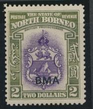 North Borneo  SG 333 SC# 221 MNH    OPT BMA  free postage