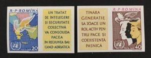 Romania 1961 #1469-70 Imperforate, UN, MNH.