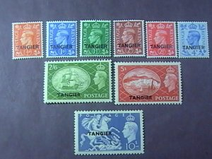GREAT BRITAIN/OFFICES ABROAD/TANGIERS-550-558-MNH & MH--COMPLETE SET--1950-51
