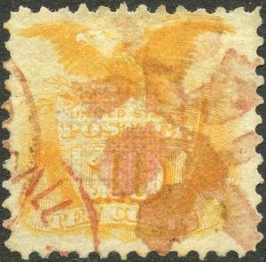 #116 VF USED WITH FANCY RED CANCEL CV $180.00 BP3049